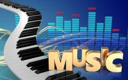 pianotangenter för spektrum 3d Royaltyfri Fotografi