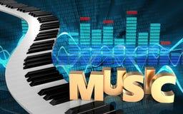 pianotangenter för spektrum 3d Royaltyfri Foto