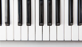 Pianotangenter som visas från över Royaltyfri Foto