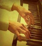 pianotappning Royaltyfria Foton