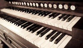 pianotappning Arkivbilder