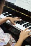 Pianoutbildning Fotografering för Bildbyråer