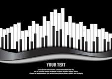 Pianoutjämnare på svart bakgrund Royaltyfria Foton