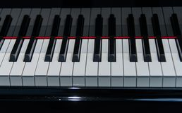 Pianozwarte en whit sleutelsclose-up royalty-vrije stock foto's