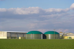 Pianta 01 del biogas Fotografie Stock