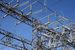 Pianta ad alta tensione di elettricità Immagini Stock Libere da Diritti