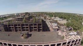 Pianta aerea di Detroit Packard video d archivio