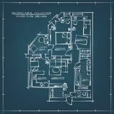 Pianta architettonica del modello Immagini Stock