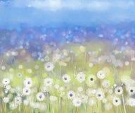 Pianta astratta dei fiori Pittura a olio Fotografie Stock