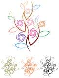 Pianta astratta del fiore illustrazione vettoriale