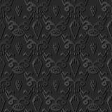 pianta botanica di arte 3D del bordo di carta scuro del dente di sega illustrazione vettoriale
