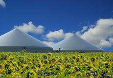 Pianta del biogas Immagini Stock