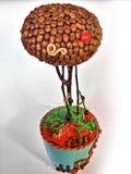 Pianta del caffè Handmade Fotografia Stock Libera da Diritti