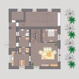 Pianta della casa illustrazione vettoriale