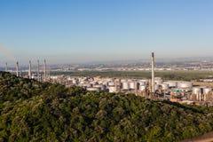 Pianta della raffineria di petrolio Immagine Stock