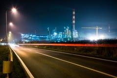 Pianta della raffineria di petrolio in Serbia immagine stock