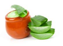 pianta di Aloe-vera con crema, Fotografia Stock Libera da Diritti