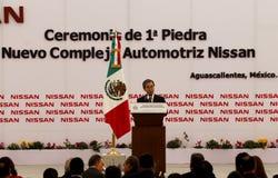 Pianta di automobile nuova dei Nissan nel Messico Fotografia Stock Libera da Diritti