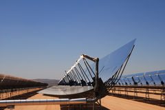 Pianta di deserto a energia solare immagine stock libera da diritti