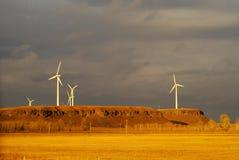 Pianta di energia del vento Fotografie Stock