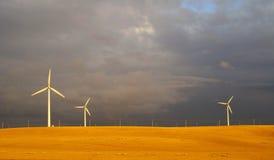 Pianta di energia del vento Fotografia Stock Libera da Diritti