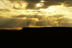 Pianta di energia del vento Immagini Stock