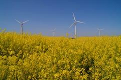 Pianta di energia del vento Immagini Stock Libere da Diritti