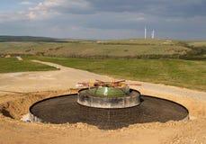 Pianta di energia eolica fotografia stock libera da diritti