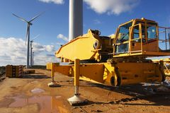 Pianta di energia eolica Immagine Stock