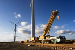 Pianta di energia eolica fotografia stock