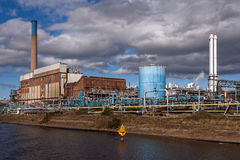 Pianta di fabbrica chimica di elaborazione Immagine Stock