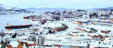 Pianta di fabbrica della miniera di ferro di Ron in Narvik Norvegia Immagine Stock Libera da Diritti