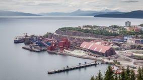 Pianta di fabbrica della miniera di ferro di Ron in Narvik Norvegia Immagine Stock
