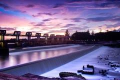 Pianta di forza idroelettrica Fotografia Stock Libera da Diritti