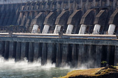 Pianta di forza idroelettrica di Itaipu Immagine Stock Libera da Diritti