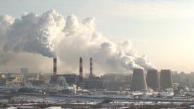Pianta di inquinamento stock footage