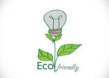Pianta di lampadina amichevole di Eco Fotografia Stock Libera da Diritti