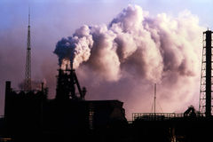 Pianta di metallurgia Fotografia Stock Libera da Diritti