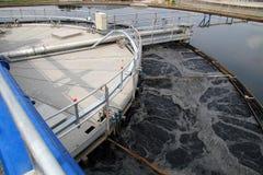 Pianta di pulizia delle acque di rifiuto Fotografie Stock Libere da Diritti
