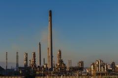 Pianta di raffineria del combustibile derivato del petrolio Fotografie Stock