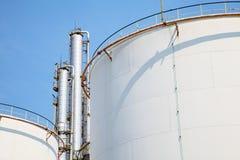 Pianta di raffineria del gas e del petrolio Immagine Stock Libera da Diritti