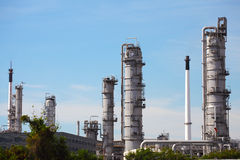 Pianta di raffineria del gas e del petrolio Immagini Stock