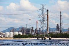 Pianta di raffineria del gas e del petrolio, zona industriale, Tailandia Fotografia Stock Libera da Diritti