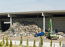 Pianta di riciclaggio Fotografie Stock
