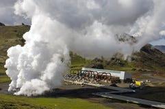 Pianta geotermica di calore Fotografie Stock Libere da Diritti
