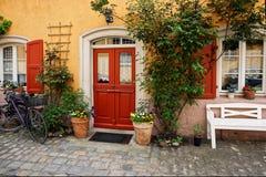 Pianta la decorazione della Camera del centro urbano vecchia Bamberga Germania Fotografia Stock