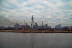 Pianta metallurgica Azovstal immagine stock libera da diritti