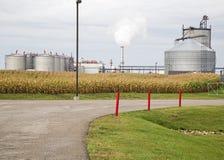 Pianta midwest dell'etanolo Immagine Stock