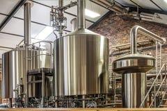 Pianta moderna della birra Fotografia Stock Libera da Diritti