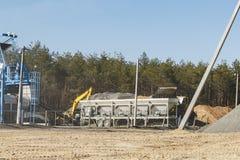 Pianta modulare per la produzione di asfalto Fotografia Stock Libera da Diritti